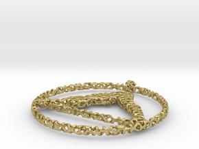 voronoi yoga pendant in Natural Brass