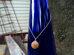 Sea Urchin Pendant in Matte Gold Steel
