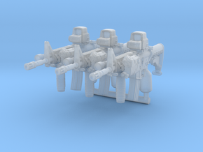 3x M4A1Brick tactical configuration in Smoothest Fine Detail Plastic