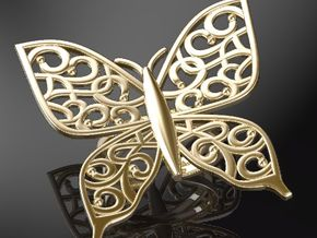 Arabesque-batafly-Ring in 14K Yellow Gold