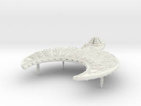 Cairn Tomb Ship in White Natural Versatile Plastic