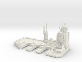 Navy Space Port in White Natural Versatile Plastic