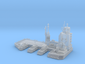 Navy Space Port in Smooth Fine Detail Plastic
