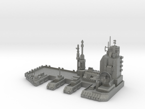Navy Space Port in Gray Professional Plastic
