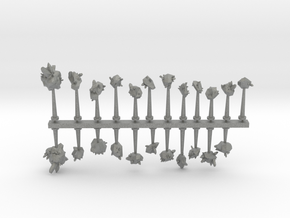 Crystal and Rock Asteroids sprue in Gray PA12