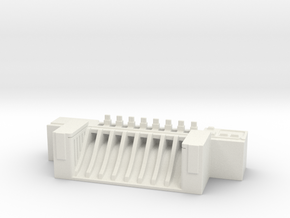 Dam - terrain piece in White Natural Versatile Plastic
