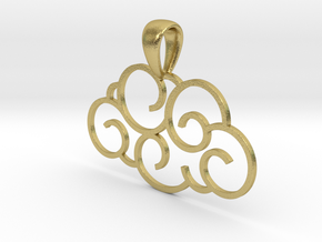 Cloudy in Natural Brass