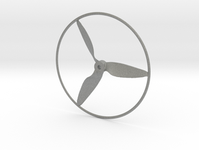 "Drone Propeller - 5"" CCW Pusher With Rim in Gray PA12"