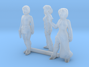 0 Scale Female Robbers in Smooth Fine Detail Plastic
