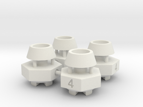 Schumacher CAT / Cougar hex adaptor - 4mm x 4 off in White Natural Versatile Plastic