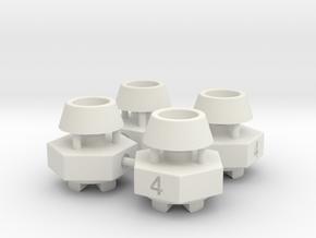 Schumacher CAT / Cougar hex adaptor - 4mm x 4 off in White Natural Versatile Plastic