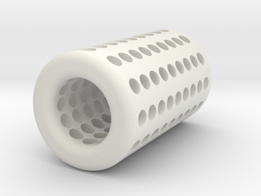 AA to C Battery Adapter in White Natural Versatile Plastic