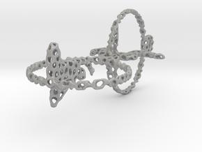 voronoi yoga double earring pendant in Aluminum