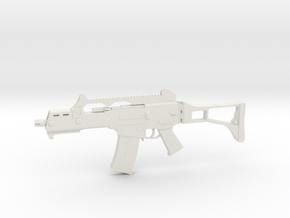 Miniature G36C Assault Rifle - Heckler & Koch in White Natural Versatile Plastic