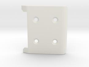 losi xx front bumper  in White Natural Versatile Plastic