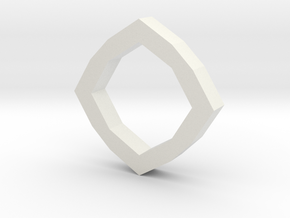 f110 grid octagon ring 1 gmtrx in White Natural Versatile Plastic