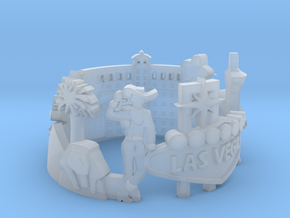 Las Vegas Skyline - Cityscape Ring  in Smooth Fine Detail Plastic: 6 / 51.5