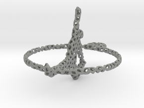 voronoi yoga earring pendant in Gray PA12