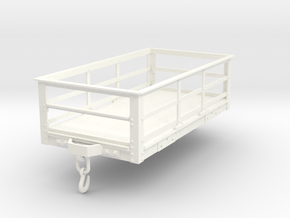 FRC01 FR 2 Ton Slate Wagon Body (Unbraked) SM32 in White Processed Versatile Plastic