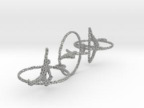 Three voronoi yoga earring pendant in Aluminum