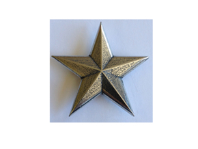 SSMM-STAR-BASICloft 1.25 in Polished Bronzed Silver Steel