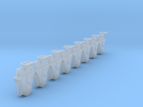 AB02a Split FR Wagon Axleboxes x8 (SM32) in Smooth Fine Detail Plastic