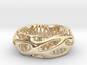 Chunky Voronoi​ Sterling Silver / Gold Bracelet in 14k Gold Plated Brass: Small
