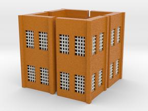Factory Corner - Z scale in Full Color Sandstone