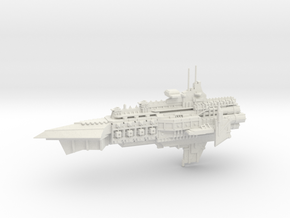 Capital Cruiser Ship - Concept A  in White Natural Versatile Plastic