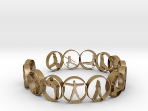 Yoga bangle 54 mm  in Polished Gold Steel