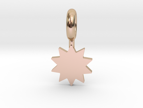 P O W E R Star Pendant in 14k Rose Gold Plated Brass