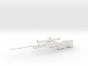 1:12 AWM Sniper Rifle in White Natural Versatile Plastic: 1:12