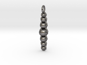 Ropes and Spheres Pendant in Polished Nickel Steel