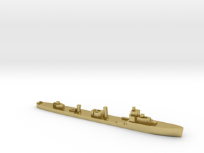 HMS Velox LR Escort 1:1800 WW2 in Natural Brass