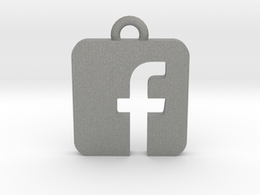 Facebook logo all materials necklace keychain gift in Gray Professional Plastic