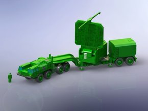 64N6E Big Bird Radar w.  MAZ543 Tractor 1/160 in Smooth Fine Detail Plastic