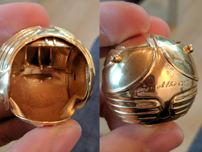 Golden Magical Ball Ring Box (Front half) in 14k Gold Plated Brass