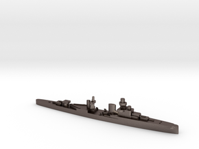 Luigi Cadorna light cruiser 1:2400 WW2 in Polished Bronzed-Silver Steel
