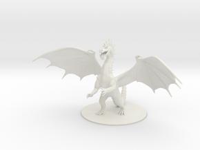 Colossal Green Dragon in White Natural Versatile Plastic