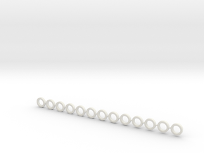 1 Tooth Spring Spacer (Dozen) in White Natural Versatile Plastic