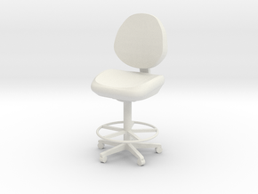 Office Chair in White Natural Versatile Plastic