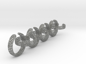 voronoi ring chain 23.6 mm in Gray PA12