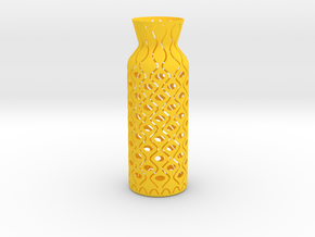 Vase_06 in Yellow Processed Versatile Plastic