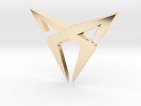 Cupra Logo Front FLAT in 14K Yellow Gold