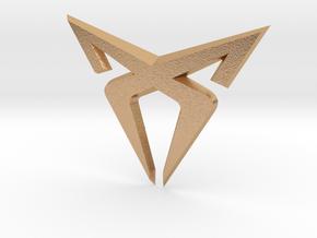 Cupra Logo Front FLAT in Natural Bronze