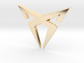 Cupra Logo Front FLAT in 14k Gold Plated Brass
