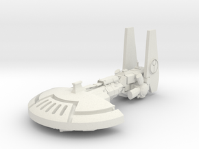 ! - Mantas Gunship  in White Natural Versatile Plastic
