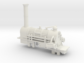00 Scale Northumbrian Loco Scratch Aid in White Natural Versatile Plastic