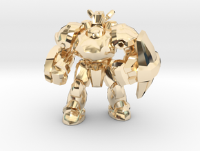 Starcraft 1/60 Terran Marauder Armored Soldier in 14k Gold Plated Brass
