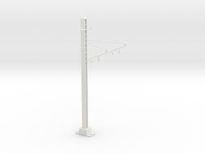 PRR 2T BRACKET 2.5 Y CURVE in White Natural Versatile Plastic